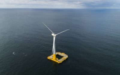 France's first offshore wind turbine produces electricity